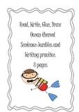 Read, Write, Glue, Draw - Ocean Theme