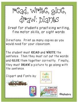 Read, Write, Glue, Draw - Plants
