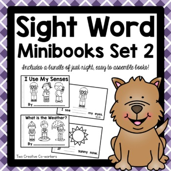 High Frequency / Sight Word Read and Write Printable Minibooks Set 2