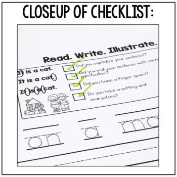 Kindergarten Writing: Writing Journal, Writing Paper, Writing Center