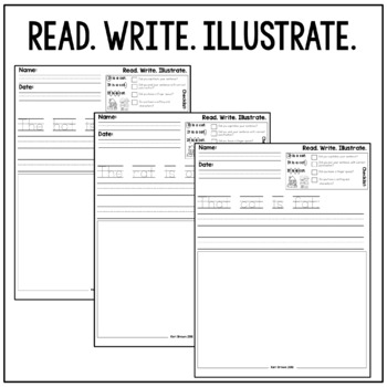 Kindergarten Writing: Short a Writing Paper, Writing Center