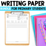 Kindergarten Writing: Short Vowel Writing Paper Bundle