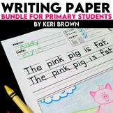 Kindergarten Writing: Short Vowel Writing Paper Bundle