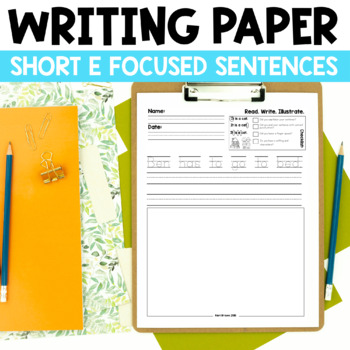 Read. Write. Illustrate. - Short e set
