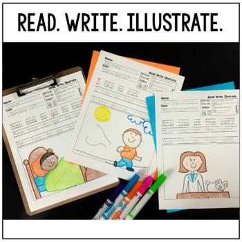 Read. Write. Illustrate. - Short i set