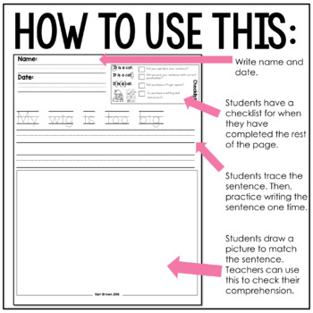 Kindergarten Writing: Short i Writing Paper, Writing Center