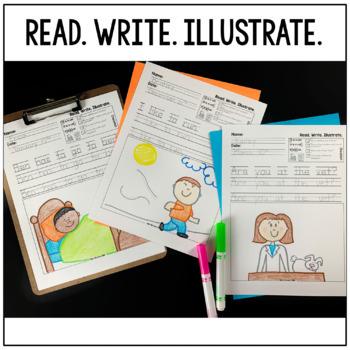 Kindergarten Writing: Short o Writing Paper, Writing Center