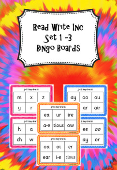 Read Write Inc - Set 1 - 3 Sounds Bingo