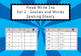 Read Write Inc Set 2 - Sounds and Words Spelling Sheets