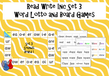 Read Write Inc - Set 3 Word Lotto and Board game