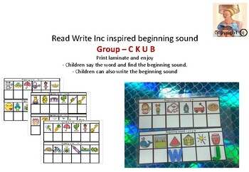 Read Write Inc Inspired Beginning Sound Group C K U B By Fine Things
