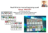 Read Write Inc inspired beginning sound  Group - M A S D T