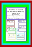 Read Write Inc inspired  dry wipe reading and writing prac