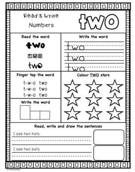 Read & Write: Numbers 1-20