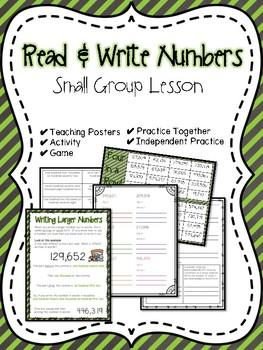 Read & Write Numbers Small Group Lesson