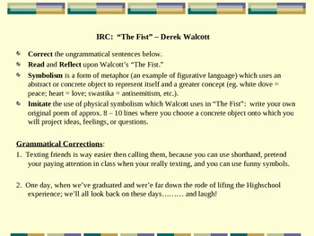 Read & Write Poetry: Comm Core Grammar+Realism & Figurative Lang. Activity Pack!