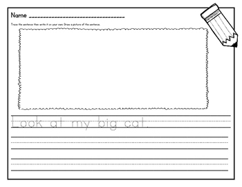 Read & Write Sentences: Handwriting Practice and Text-to-Picture Connections