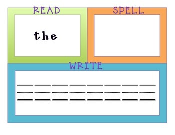 Read, Spell, Write - First 25 Sight Words