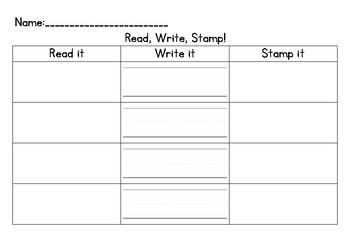 Read, Write, & Stamp