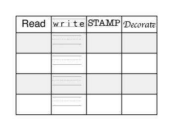 Read Write Stamp Decorate