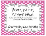 Read, Write, Stamp, Glue