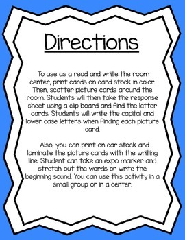 Read & Write The Room ABC