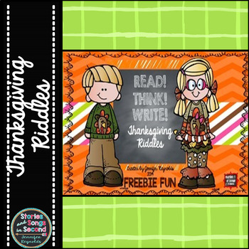 Read! Write! Think!  Thanksgiving Riddle Pack {Freebie}