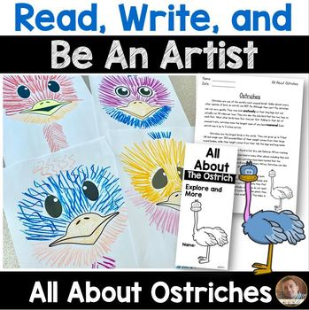 Read, Write, and BE AN ARTIST: All About Ostriches