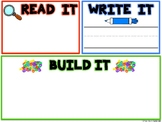 Read, Write and Build Sight Word Mat