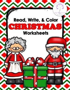 Read, Write, and Color CHRISTMAS Worksheets