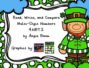 Read, Write, and Compare Numbers Task Cards 4.NBT.2