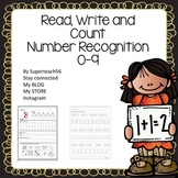 Number recognition 0-9: Read Write and Count with Number dots