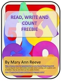 Read Write and Count: FREEBIE SAMPLER
