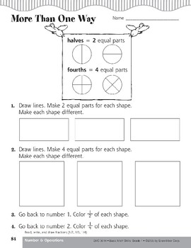 Read, Write, and Draw Fractions (1/2, 1/3, 1/4)