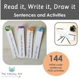 Read it, Write it, Draw it Sentence Game