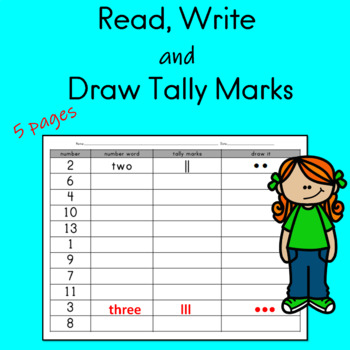 Read Write and Draw Tally Marks Worksheets by Buzz Worthy ...