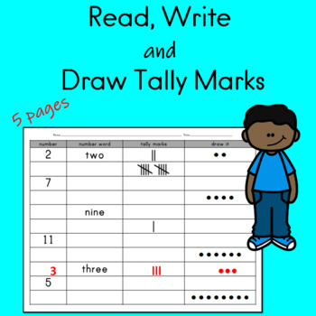 Read Write and Draw Tally Marks Worksheets