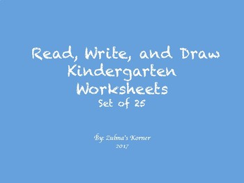 Read, Write and Draw Worksheets