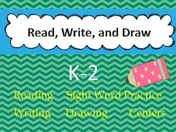 Read, Write, and Draw Worksheets(K-2)