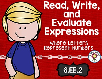 Read Write and Evaluate Expressions Math Tasks and Exit Tickets
