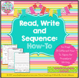 Read, Write and Sequence: How-To, Procedural Writing
