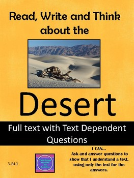 Read, Write and Think about the Desert