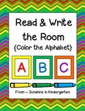 Read & Write the Room {Color the Alphabet}