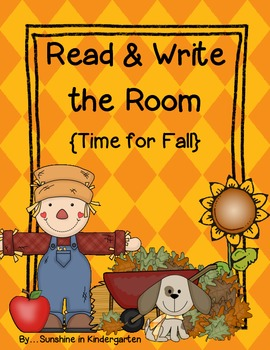 Read & Write the Room {Time for Fall}