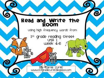 1st Grade Reading Street: Unit 1 weeks 4-6, Read & Write the Room: