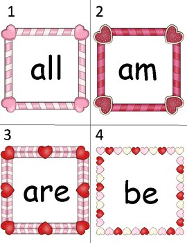 Read & Write the Room Valentine's Frames