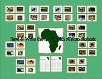 Write the Room with Animals of Africa!