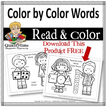 Read Your Color Words: Color by Color Math Fun
