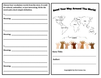 Read Your Way Around The World Booklet