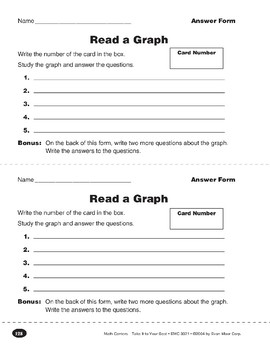 Read a Graph (Bar, Picture, and Circle Graphs)